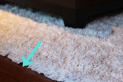 When it comes to keeping rugs clean, shag rugs are my best friend.