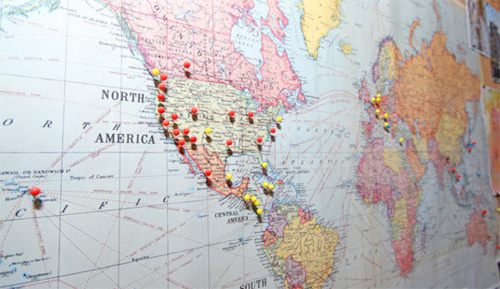 Mapboard - Travels | PepperDesignBlog.com