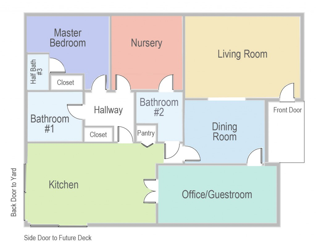 House Floor Plan | PepperDesignBlog.com