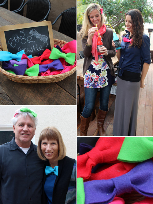 Gender Reveal Party : Bow or Bowtie? : PepperDesignBlog.com