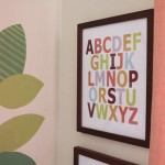 Nursery DIY ABC Artwork : PepperDesignBlog.com