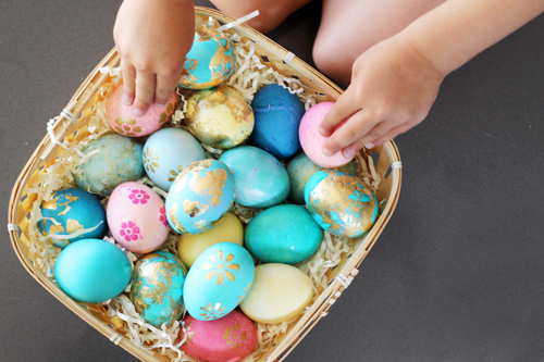 5 Gold Easter Egg Decorating Idea to Try : PepperDesignBlog.com