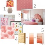 A Pink Girl's Room for Two: the Inspiration Board