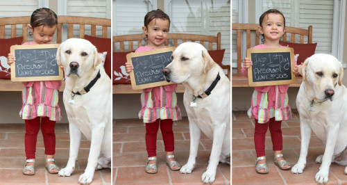 Liv's First Day of Preschool! | PepperDesignBlog.com