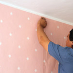 Girls' Room: Wallpaper Installation