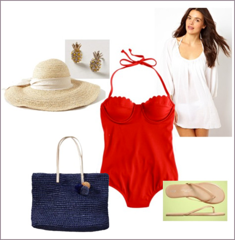 Vacation Time! | Wardrobe Style Board | PepperDesignBlog.com
