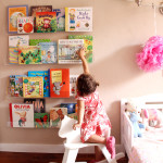 Girls' Room: Acrylic Bookshelves & a Library Wall