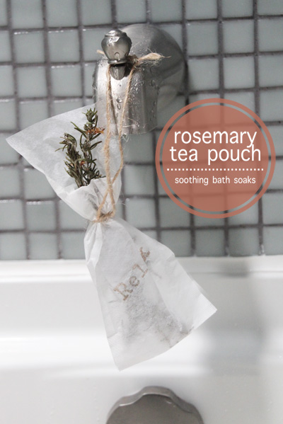 Rosemary Tea Pouch Bath Soak | PepperDesignBlog.com