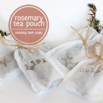 Relaxing Rosemary Tea Pouch Bath Soaks