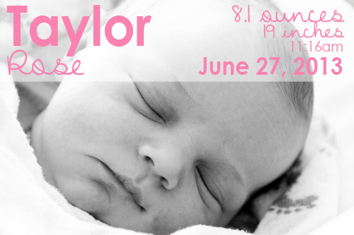 Taylor Rose is Here | PepperDesignBlog.com