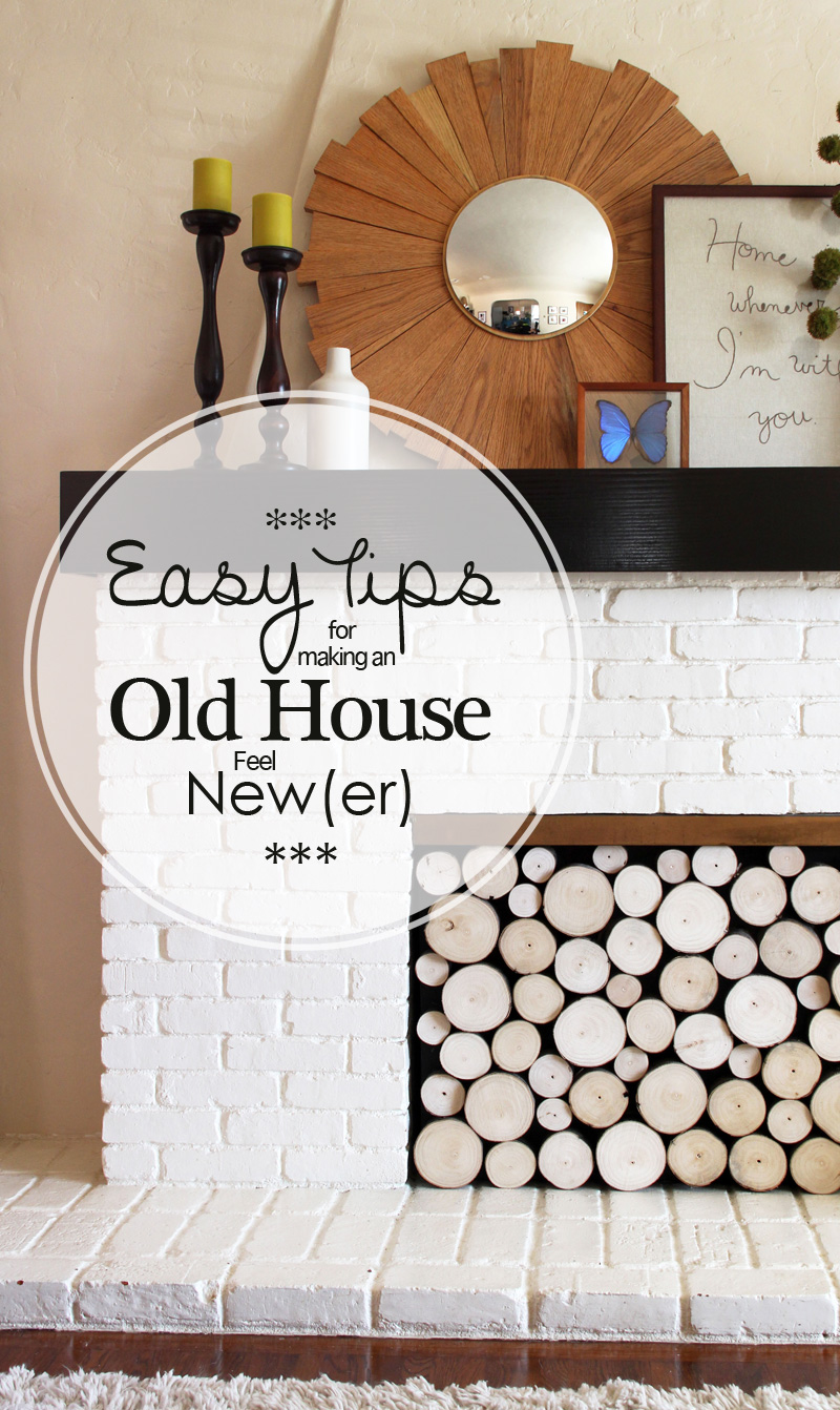 Easy Tips for Making an Old House Feel New(er) | PepperDesignBlog.com