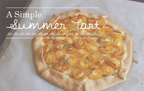 Good Eats | Simple Summer Tart | PepperDesignBlog.com