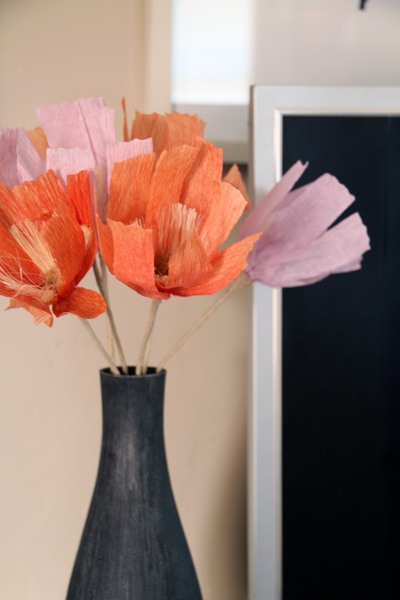 West Elm Paper Flowers | PepperDesignBlog.com