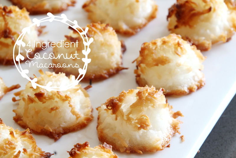 4 Ingredient Coconut Macaroons | PepperDesignBlog.com
