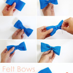 DIY Felt Bows & Bow Ties