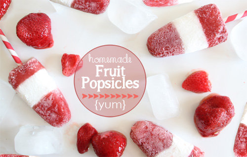 Fruit Popsicles | PepperDesignBlog.com