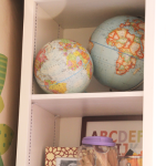 Girls' Room & a Travel Project: New Globes