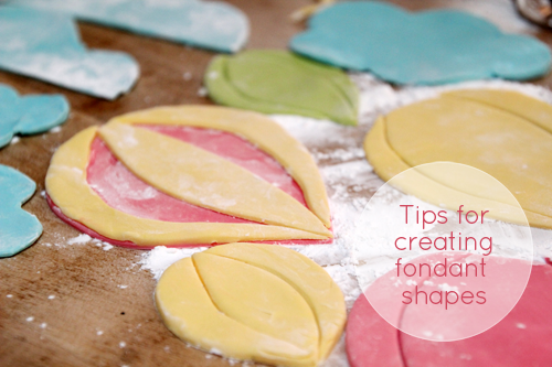 DIY Cake Fondant Tips | Fondant Hot Air Balloons | PepperDesignBlog.com