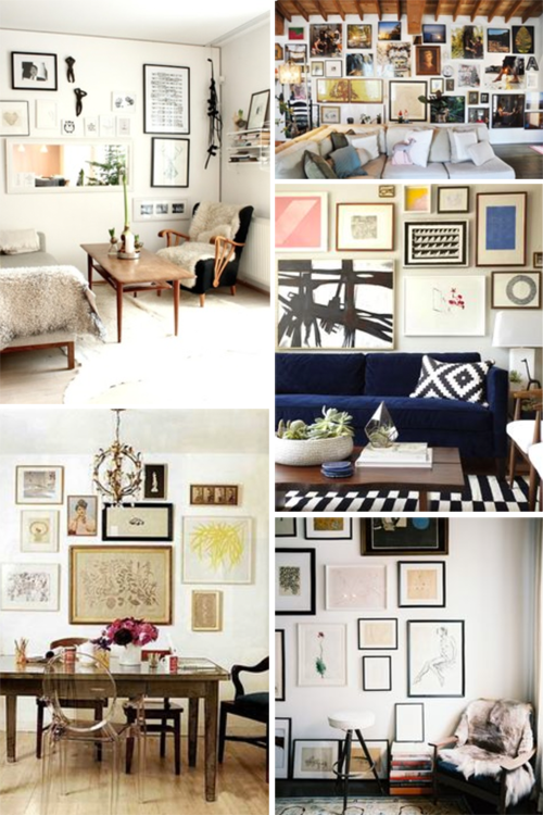 Wall Gallery Inspiration | PepperDesignBlog.com