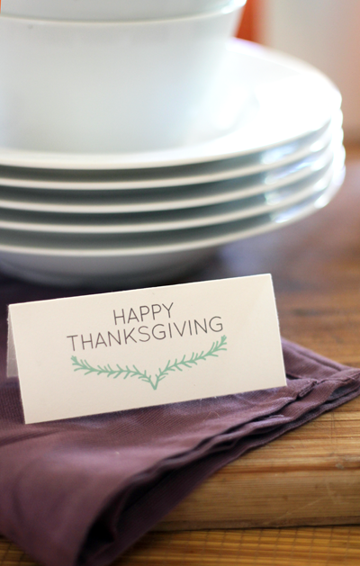 Thanksgiving Placecards & 'Grateful' Notecard Downloads | PepperDesignBlog.com
