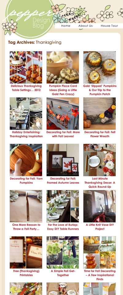 Thanksgiving Ideas | PepperDesignBlog.com