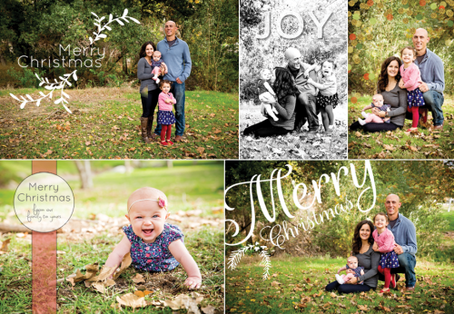 Christmas Card Overlays | DIY Cards | PepperDesignBlog.com