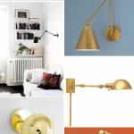 Girls' Room Update: Swing Arm Wall Sconces