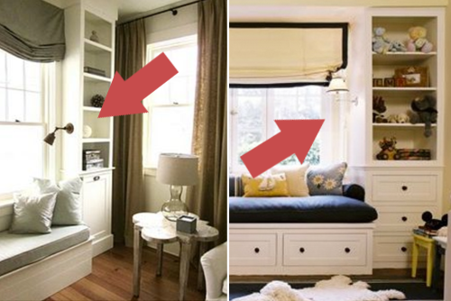 Girls' Room Bookshelf Sconce Ideas | PepperDesignBlog.com