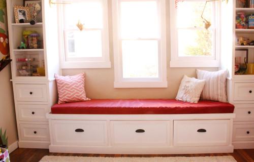 Girls' Room Update: New Window Seat Cushion | PepperDesignBlog.com
