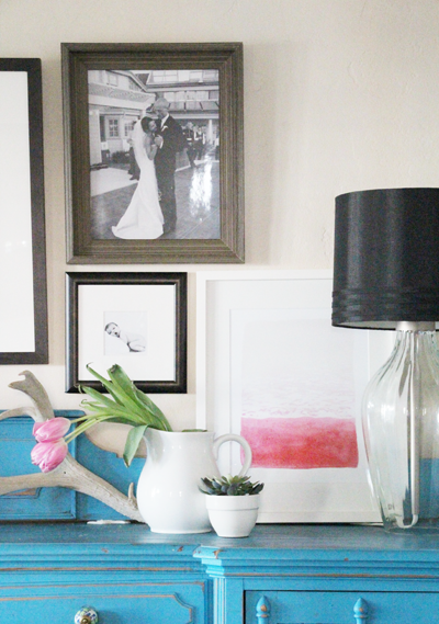 Pink Watercolor for the Dining Room | PepperDesignBlog.com | UncommonGoods