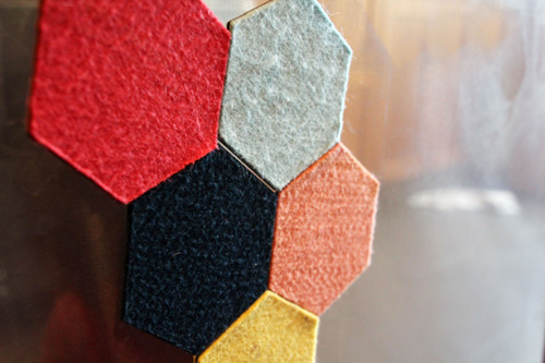 Hexagon Felt Magnets | PepperDesignBlog.com