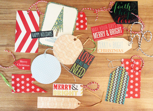 Repurposing Holiday Cards for Gift Tags | PepperDesignBlog.com