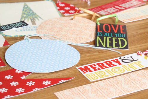 Reusing Holiday Cards for Gift Tags | PepperDesignBlog.com