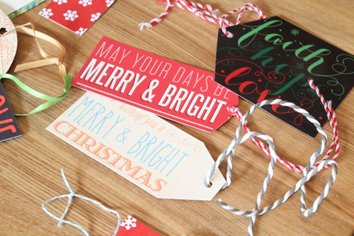 Recycling Holiday Cards into Gift Tags | PepperDesignBlog.com