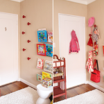 Girls' Room DIY Wooden Circular Wall Hooks | PepperDesignBlog.com