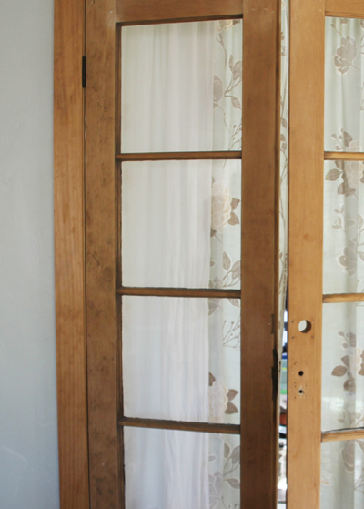 Kitchen French Doors Before | PepperDesignBlog.com
