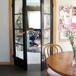 Kitchen Update: Glossy Black French Doors