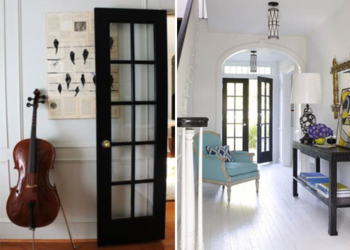 Perfect Inspiration: Black French Doors | PepperDesignBlog.com