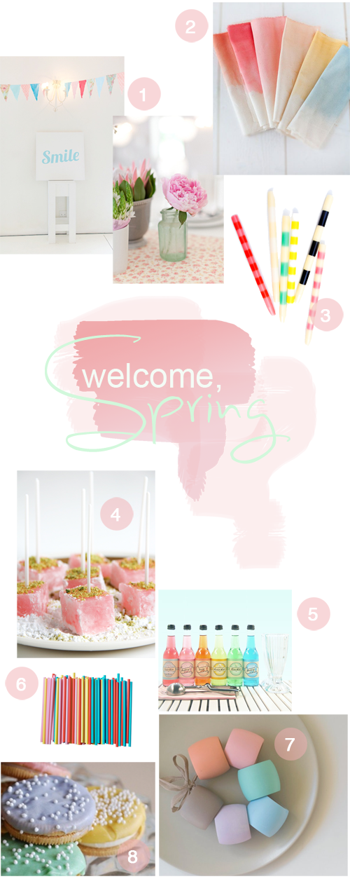 Party Theme Inspiration: Welcome, Spring | Pastel Colors | PepperDesignBlog.com