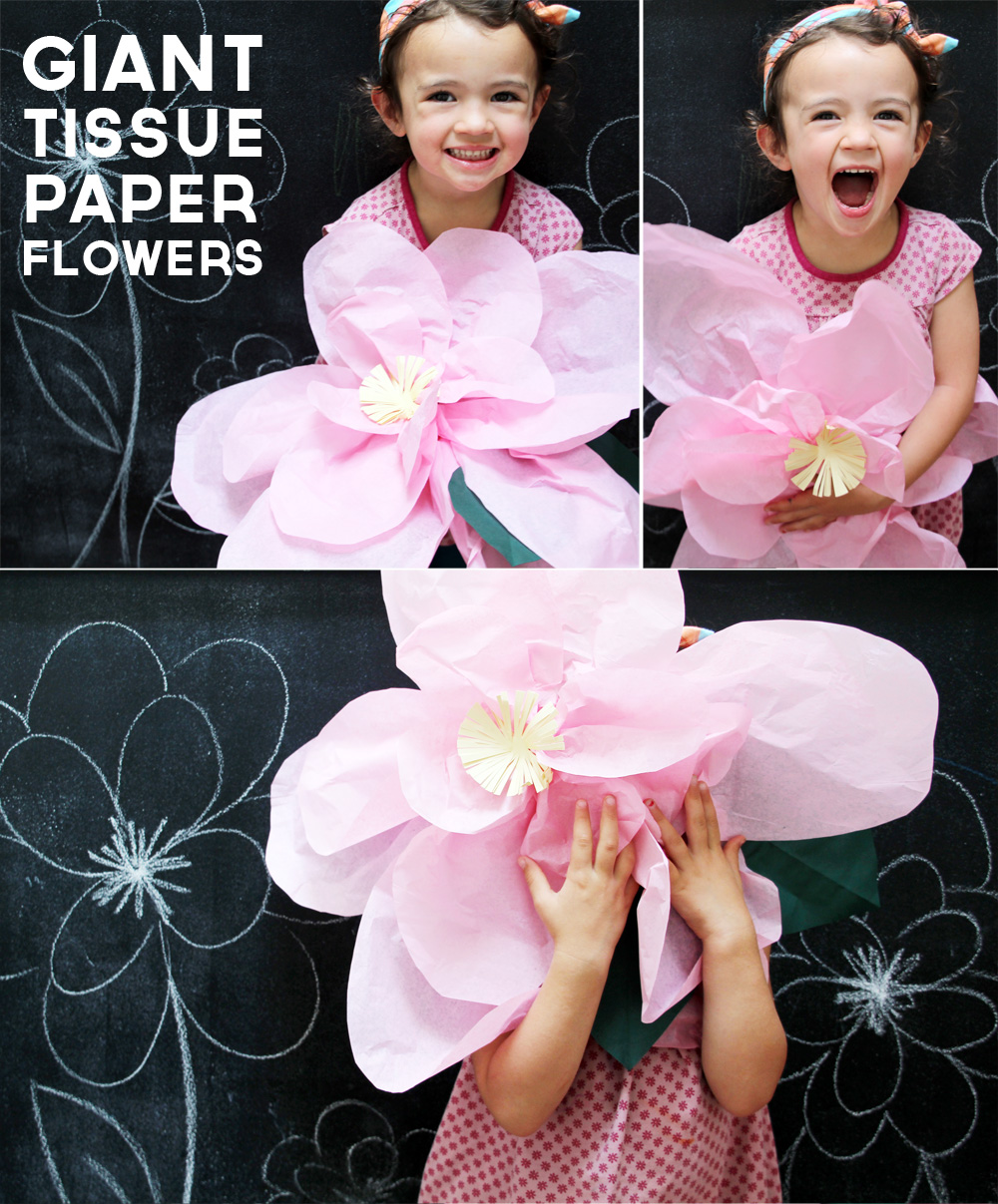 Tutorial: Giant Tissue Paper Flowers | PepperDesignBlog.com