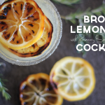 A Rosemary & Broiled Lemon Bourbon Cocktail
