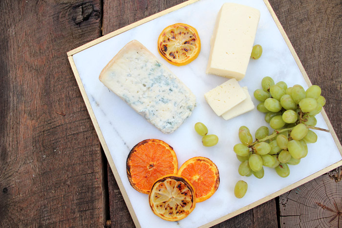 Gold Rimmed Marble Cheeseboard