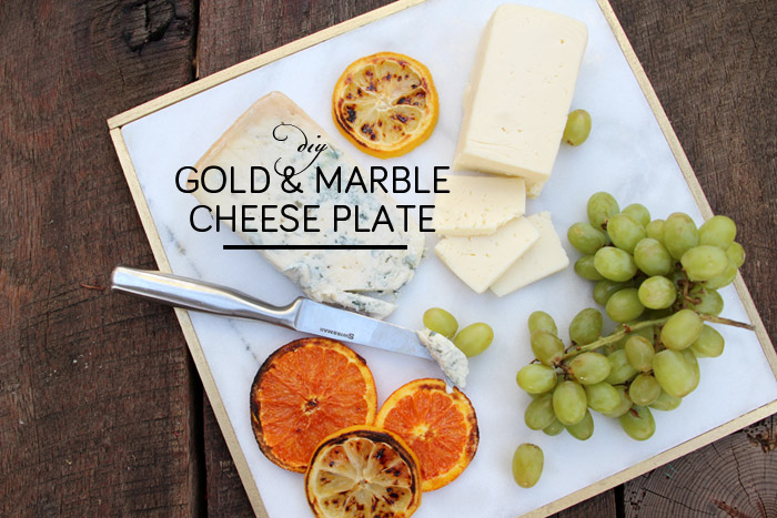 DIY Marble & Gold Cheese Plate | Emily Henderson & Pepper Design Blog