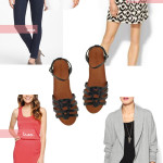 One Favorite Four Ways: Black Leather Sandals