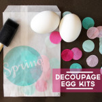 Easter Craft: Decoupage Egg Kits {with Download}