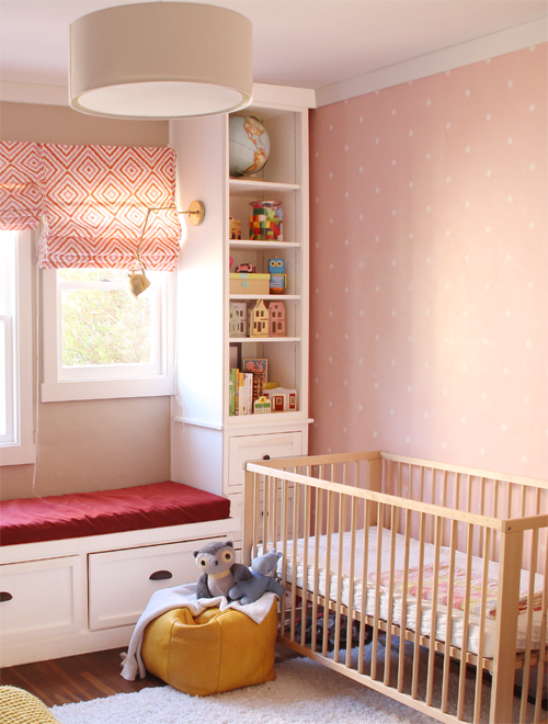 Girls' Room, Nursery Wallpaper Wall | PepperDesignBlog.com