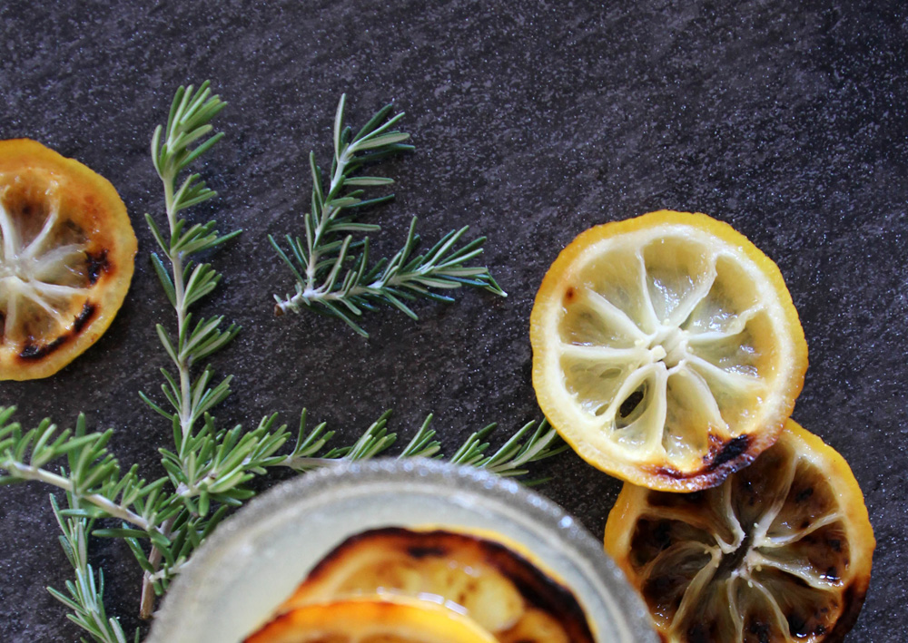 Good Eats: Broiled Lemon & Rosemary Cocktail | PepperDesignBlog.com