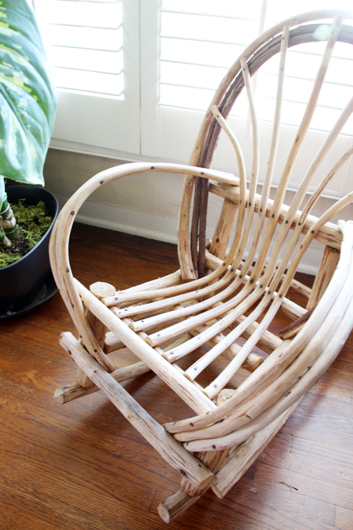 A Mini Rocking Chair for the Living Room | PepperDesignBlog.com