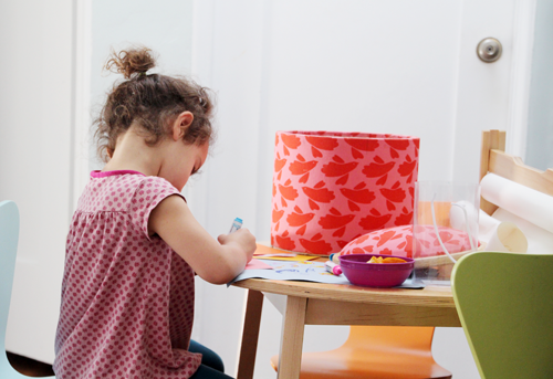 A Maker's Space, Part 1 | Organizing Art Projects for Kids | PepperDesignBlog.com