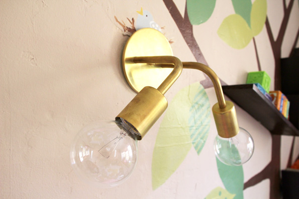 Gold 2 Light Wall Sconce for the Girls' Room | PepperDesignBlog.com